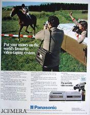 PANASONIC 'Portable' Video Recorder Advert - Original 1981 Print AD