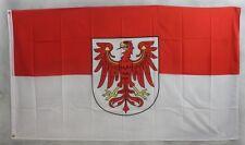 Brandenburg Flagge 250x150 cm wetterfest Fahne Ösen Innen Außen große Hissflagge