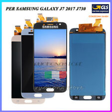 DISPLAY LCD TOUCH SCREEN PER SAMSUNG GALAXY J7 2017 SM-J730F DS NERO ORO BLU