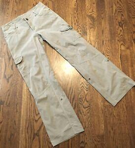 Kuhl Splash Roll Up Pants Womens Sz 8 Khaki Hiking Outdoors