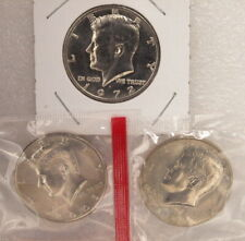 """GROUP OF 3 MS KENNEDY HALF DOLLARS  """"UNC"""" """"ASSORTED DATES"""" GRP 4"""