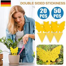 20/50 Stk Gelbtafeln Gelbsticker Fliegenfänger Gelbe Tafeln Fruchtfliegen-Falle