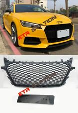 TTRS Style Front Grille for Audi TT MK3 8S Glossy Black