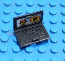 LEGO Minifig Utensil Computer Laptop with Agents Logo Pattern  x1PC