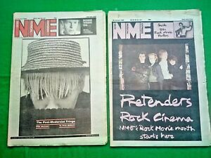 NME MAGAZINE X 2 (12TH+26TH) JANUARY,1980-BOWIE,DEXYS,ROCK MOVIES,CLASH/DURY GIG