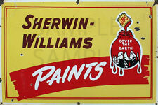 SHERWIN WILLIAMS PAINT STORE DIORAMA BUILDING SIGN DECAL 3X2  MORE SIZES AVAIL