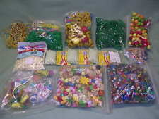 Lot, Assorted Plastic and Wood Beads, Over 4 pounds of beads.