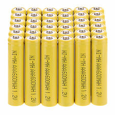 36Pcs AAA 3A Size 600mAh 1.2 V NI-MH Power Rechargeable Battery Yellow Color
