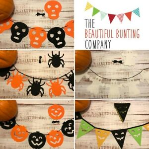 Halloween Bunting Ghost 👻 Skull 💀 Pumpkin 🎃 Spider 🕷 & 🎃 Face Triangle 3m