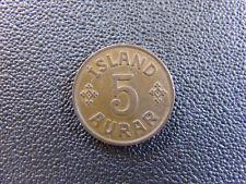 1942 Iceland 5 Aurar