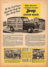 Print.  1946 Willys Jeep Station Wagon Advertisement