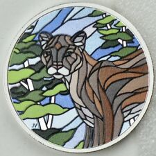 2018 $20 Canadian Mosaics: Cougar, 99.99% Pure Silver Color Proof Coin