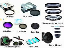 Bundle Filter kit UV CPL ND FLD Close up / Lens hood / Cap for Panasonic Sony