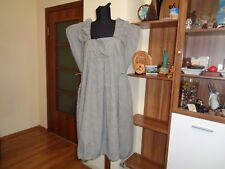 THE MASAI CLOTHING COTTON BLEND CRINKLED EMPIRE LINE BUBBLE DRAWSTRING HEM DRESS