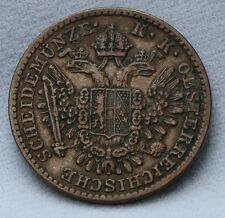 Oostenrijk - Austria 1/2  kreuzer 1851 B - KM# 2181 - nice!