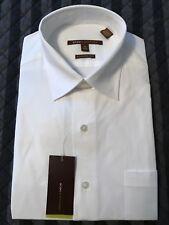 BCBG Modern Fit Stretch Spread Collar White Dress Shirt 15 1/2 - 34/35