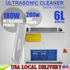 6L Ultrasonic Cleaner Stainless Steel Industry Heated Heater w/Timer NEW