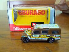 land rover raid Fiore del deserto 1/43 Bburago burago in Box con scatola
