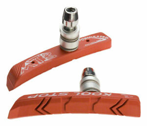 Kool-Stop Mountain V-Brake Pads Threaded Post for Linear Pull Salmon Compound