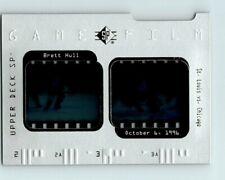 1996-97 UPPER DECK SP GAME FILM BRETT HULL INSERT Card # GF4 St. Louis Blues BV