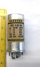 1 NOS Aerovox 40 mfd @ 450 v Can Style Capacitor 4-91-50