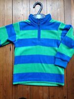 Ex Marks And Spencer Boys Fleece Jumper Top Blue And Green
