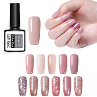 LEMOOC 8ml 12ml Rose Gold Gel Polish Glitter Soak Off UV Gel Nail Art Varnish