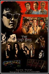 """THE LOST BOYS, SLEEP ALL DAY SATIN CANVAS POSTER HUGE SIZE 20"""" X 30"""""""