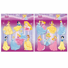 Disney Princess wall stickers girls art chambre décoration adhésif décoration 7pcs