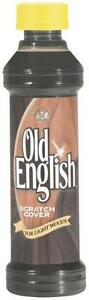 NEW OLD ENGLISH 8OZ BOTTLE LIQUID FURNITURE LIGHT WOODS SCRATCH COVER 6907919