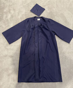 Graduation Cap And Gown Jostens 5'7-5'9 Navy Blue College High School