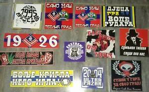 10 x Serbian Football Ultras Stickers 3
