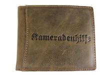 KAMERADENHILFE Herren Geldbörse, Brieftasche, Leder, Geldbeutel Geschenkbox 5349