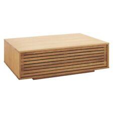 Designer MAX Oiled Oak Coffee Table With Internal Storage - 18990 (SA27)