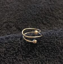 Sterling Silver ~1 grams Wraparound Silver Ball Ends Simple Wire Ring Size 2.5