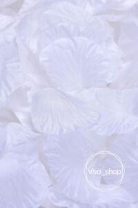 500-10000pcs Silk Rose Petals Artificial Flowers Wedding Party DIY Decor White