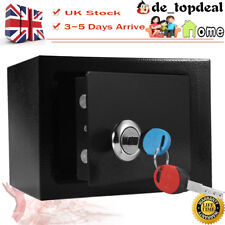 Keypad Lock Steel Fireproof Safe Box with Key for Home & Office Hotel Security