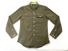 New Levi's Mens Pendleton Modern Fit 34448 Green Wool Long Sleeve Flannel Sz XS