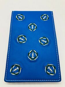 Muirfield Village Golf Club Royal Blue Leather Members Embroidered Yardage Book