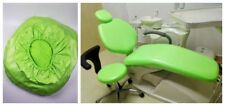 1Set Dental Unit Chair Cover Sleeves Protector Green Waterproof PU Leather