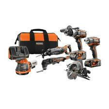 Ridgid 18-Volt Gen5X Cordless 6 Piece Combo Kit 1 Battery and 1 Battery Charger