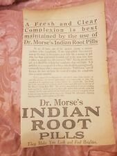 Dr Morse's Indian Root Pills 1923 Advertisement