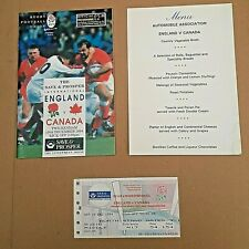More details for 2 england rugby home programmes + tickets. 1994 canada 1991  italy.  free post