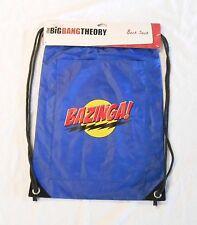 """THE BIG BANG THEORY BAZINGA BLUE 13"""" WIDE X 18"""" TALL CINCH BAG WITH 13"""" POCKET"""