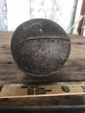 Antique Leather Softball 4� Inch Well Used Hand Stitched