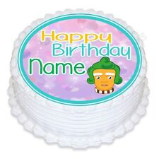 ND1 Umpa Lumpa willy wonka  Birthday personalised round cake topper icing