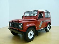 LAND ROVER DEFENDER 90 rouge & blanc 1/18 RHD 4x4