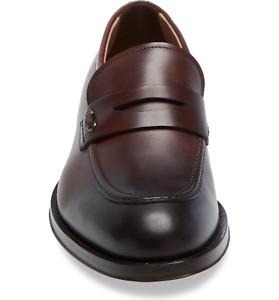 NIB Salvatore Ferragamo Pitt Brown Leather Penny Loafers 10.5EE