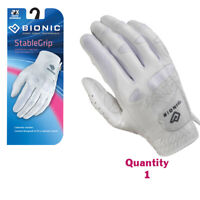 Bionic Golf Glove - StableGrip - Womens Right Hand - White - Leather - Small