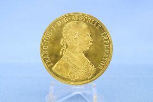 Österreich 4 Dukaten 1915 Franz Josef * 13,94 Gramm - 986 Gold * Vz / ST